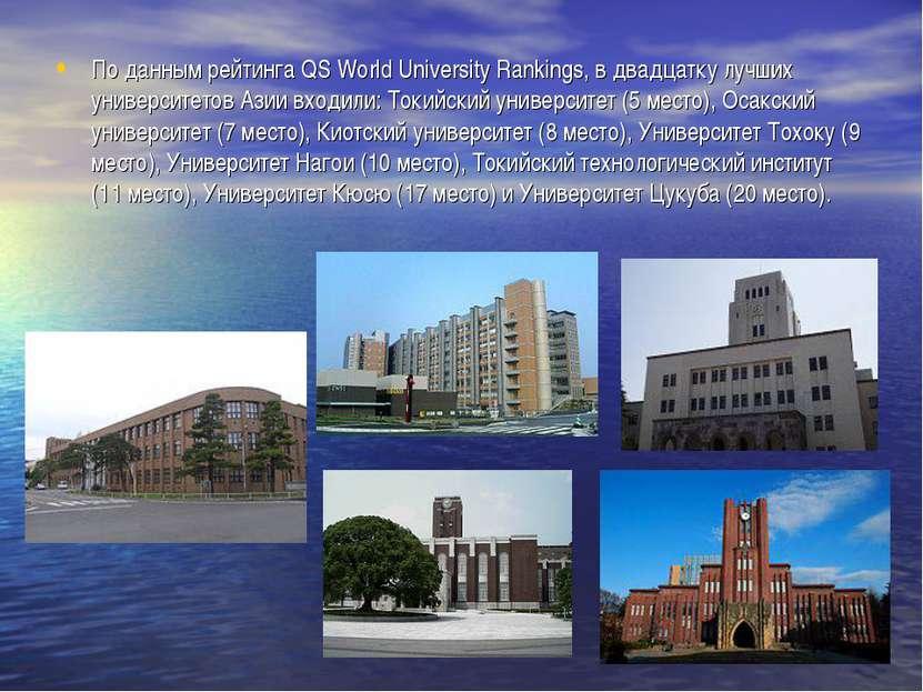 По данным рейтинга QS World University Rankings, в двадцатку лучших университ...
