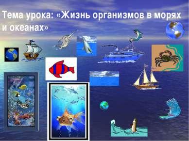 Тема урока: «Жизнь организмов в морях и океанах»