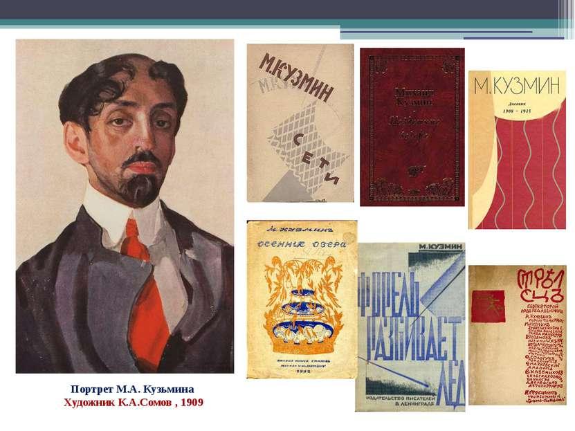 Портрет М.А. Кузьмина Художник К.А.Сомов , 1909