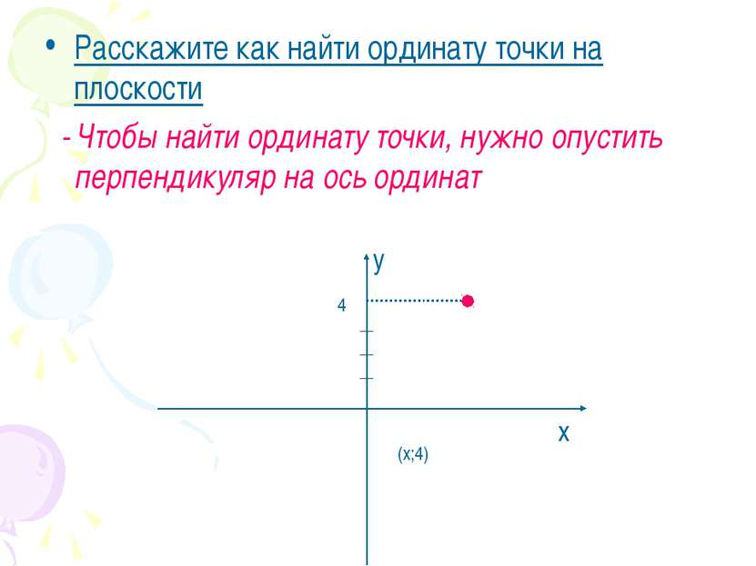 Расскажите как найти ординату точки на плоскости - Чтобы найти ординату точки...