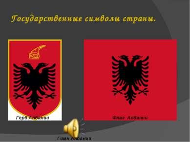 Государственные символы страны. Герб Албании Флаг Албании Гимн Албании Гимн А...