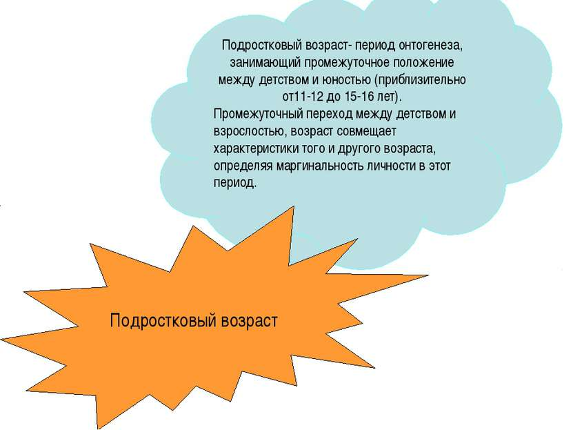 Подростковый возраст- период онтогенеза, занимающий промежуточное положение м...