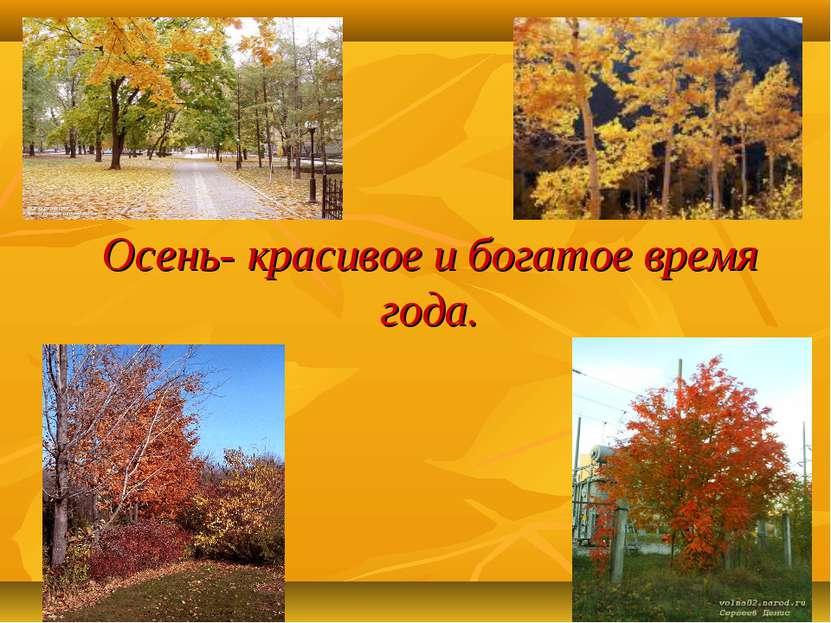 Осень- красивое и богатое время года.