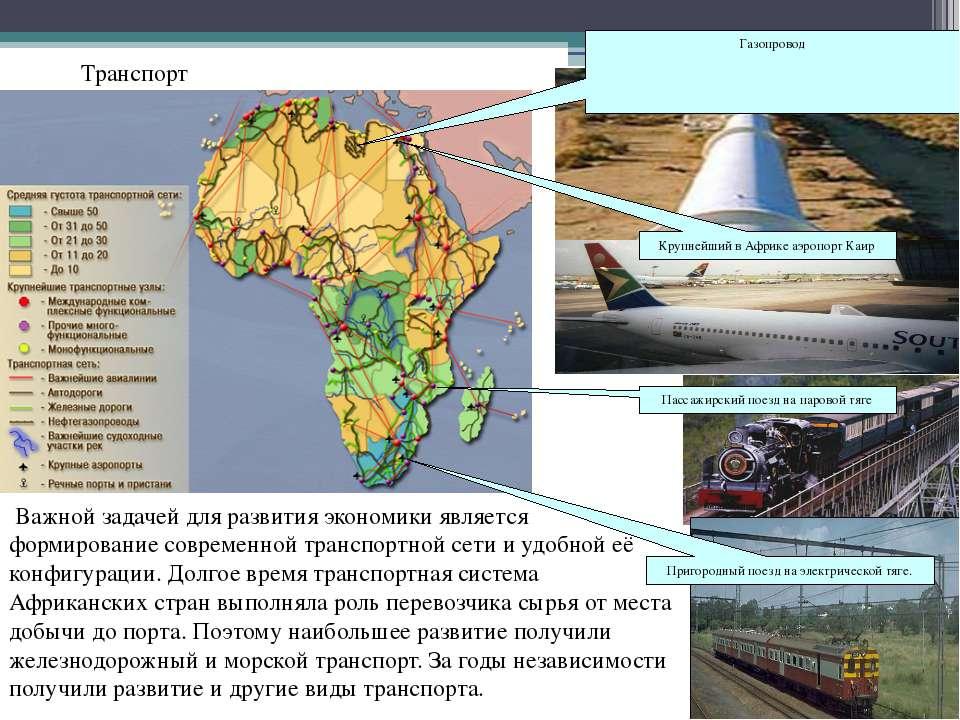 Транспорт Важной задачей для развития экономики является формирование совреме...