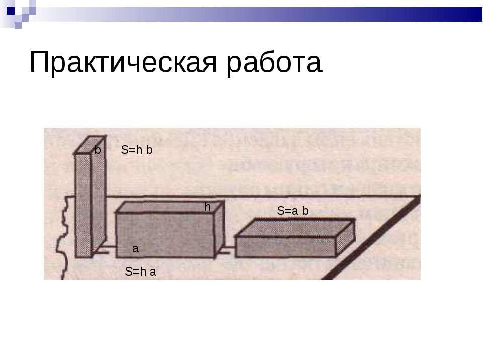 Практическая работа a b h S=h b S=h a S=a b