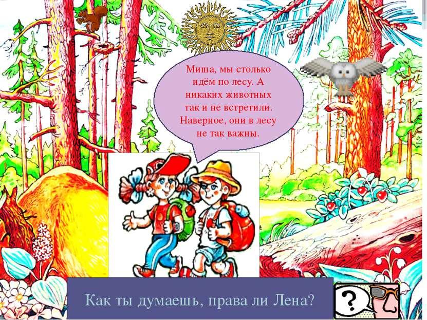 Физкультминутка Миша, мы столько идём по лесу. А никаких животных так и не вс...