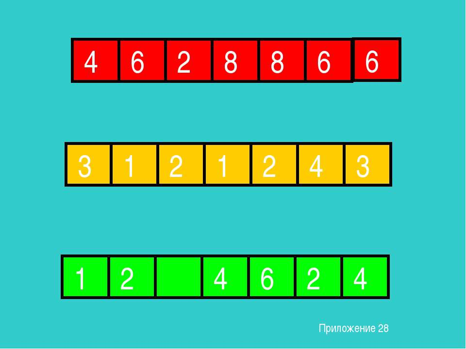4 6 2 8 8 6 6 3 1 1 2 2 4 3 1 2 4 6 2 4 Приложение 28