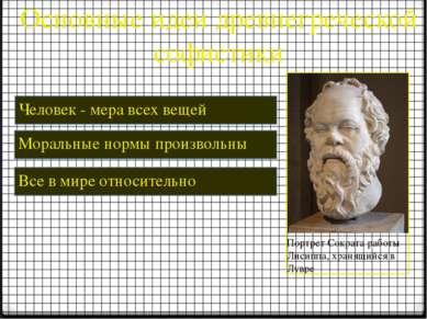 Основные идеи древнегреческой софистики Человек - мера всех вещей