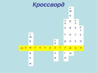 Кроссворд 4 м о 3 о р 5 п с е е 6 ч 1 ш т х с у а 2 к р о е м 7 з е м л е п р...