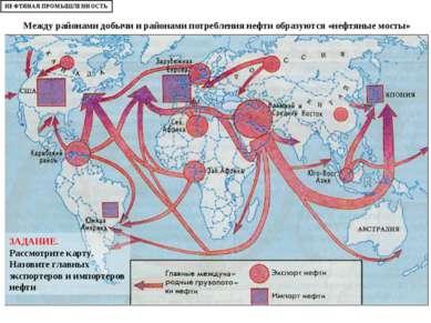 Между районами добычи и районами потребления нефти образуются «нефтяные мосты...