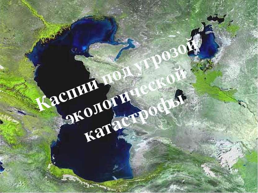 Каспии под угрозой экологической катастрофы
