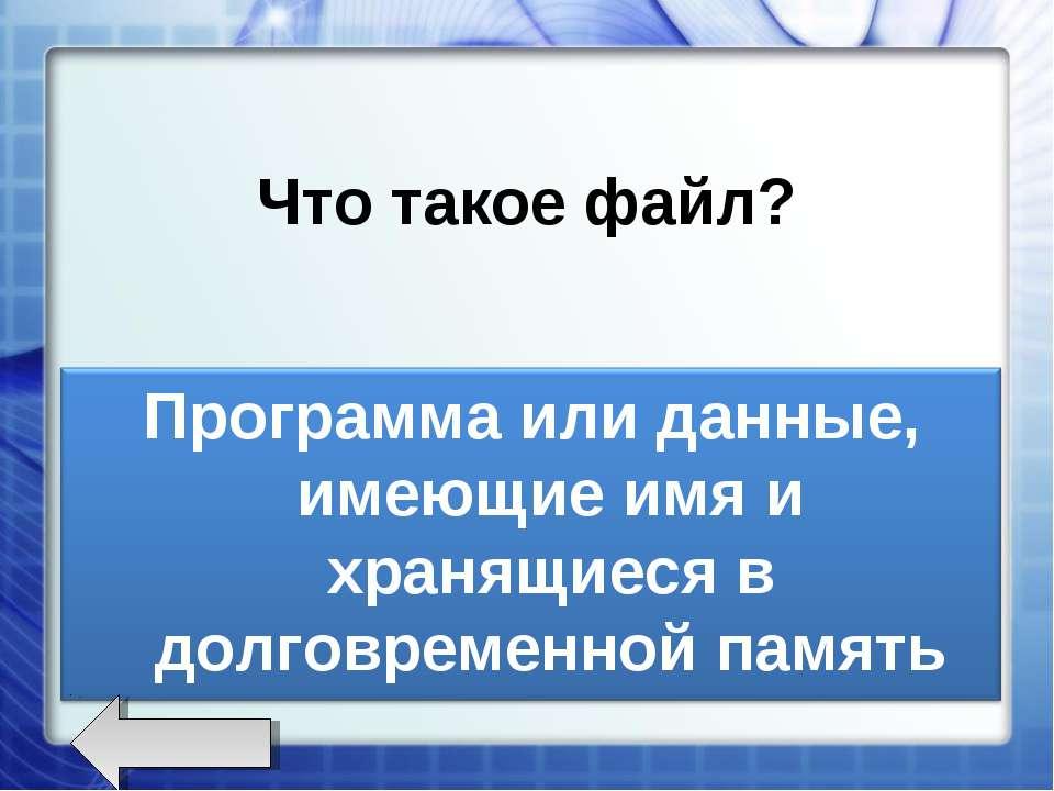 Что такое файл?