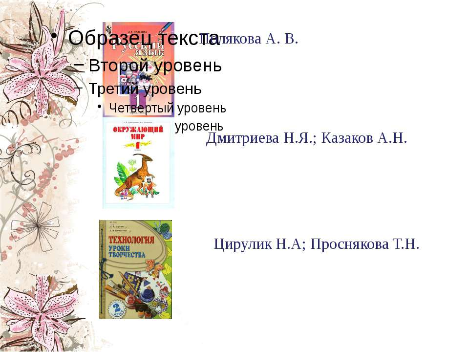 Полякова А. В. Цирулик Н.А; Проснякова Т.Н. Дмитриева Н.Я.; Казаков А.Н.