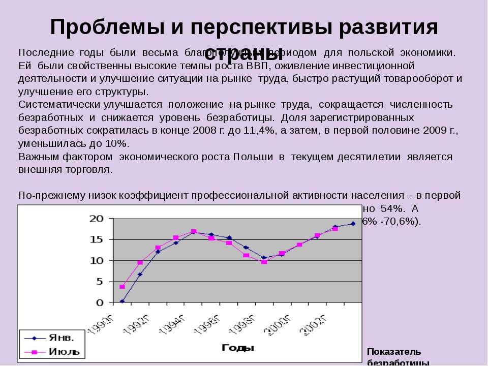 Проблемы и перспективы развития страны Последние годы были весьма благополучн...