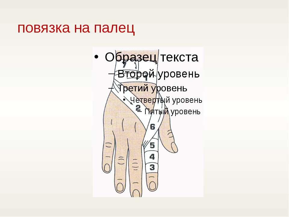 повязка на палец