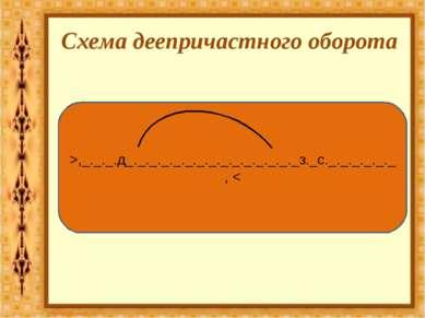 Схема деепричастного оборота >,_._._.д_._._._._._._._._._._._._._._з._с._._._...
