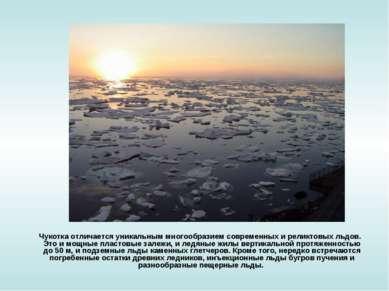 Чукотка отличается уникальным многообразием современных и реликтовых льдов. Э...