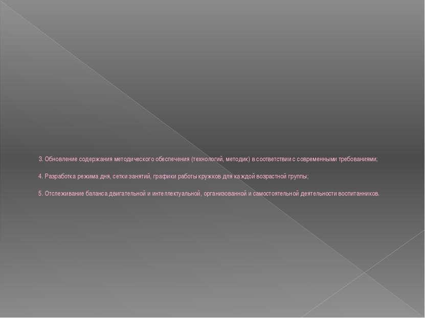 3. Обновление содержания методического обеспечения (технологий, методик) в со...