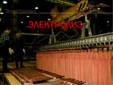 Электролиз Prezented.Ru
