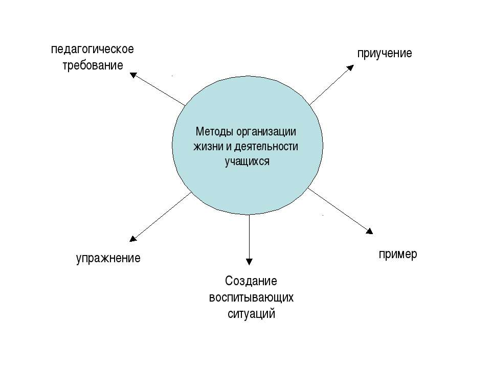 Методы организации жизни и деятельности учащихся педагогическое требование пр...