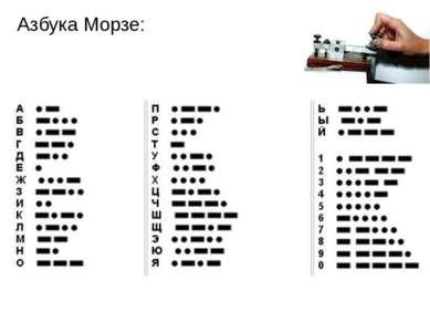 Азбука Морзе: