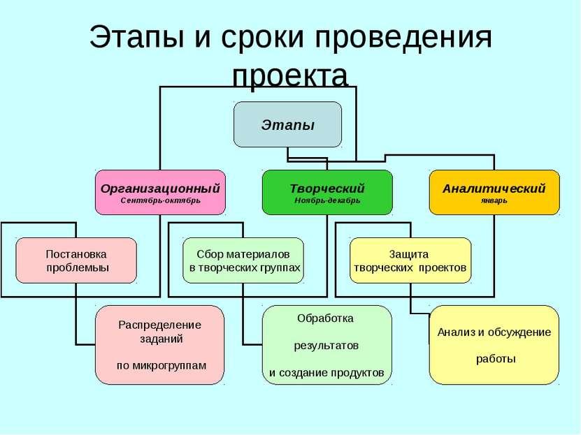 Этапы и сроки проведения проекта