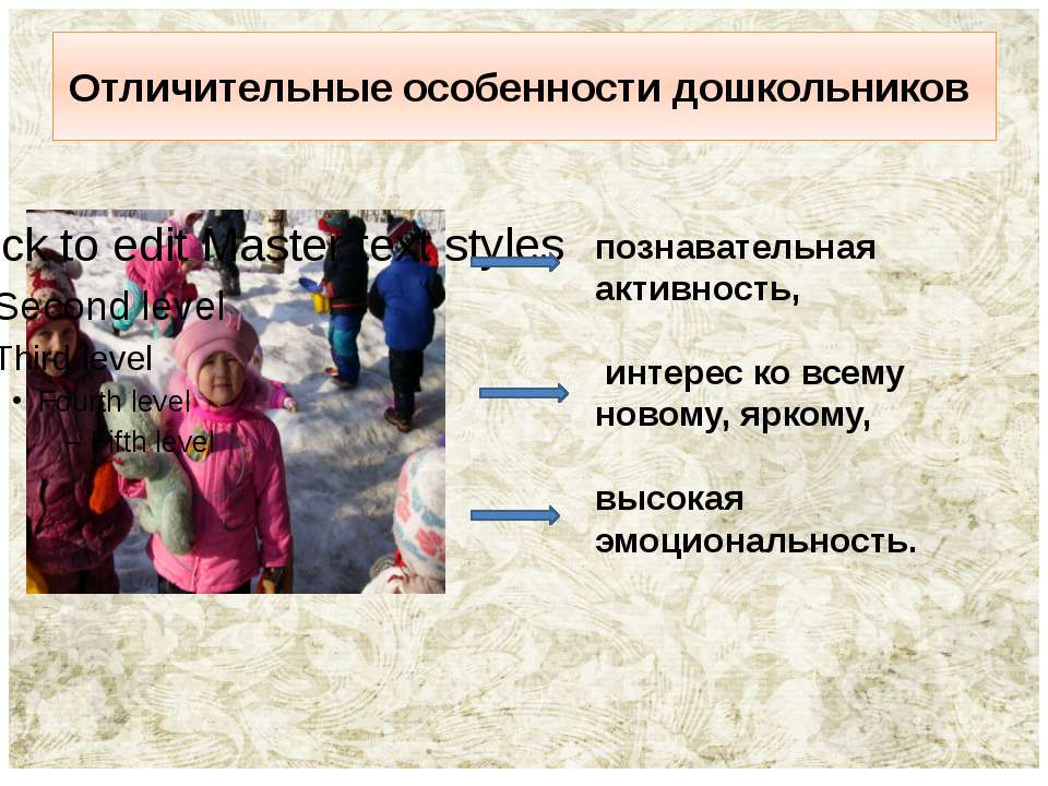 Отличительные особенности дошкольников познавательная активность, интерес ко ...
