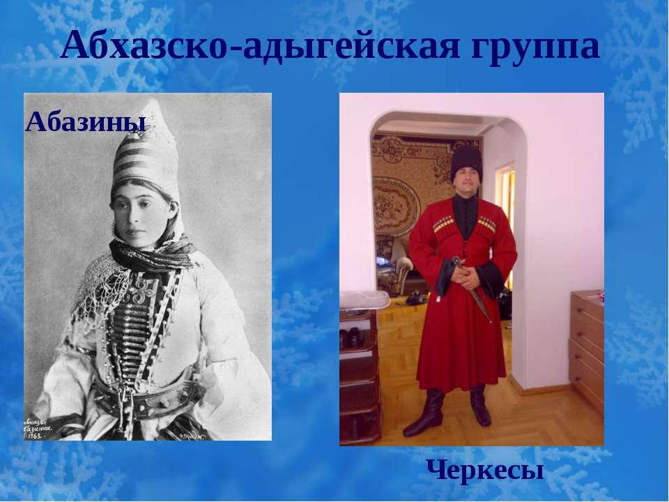 Абхазско-адыгейская группа Абазины Черкесы