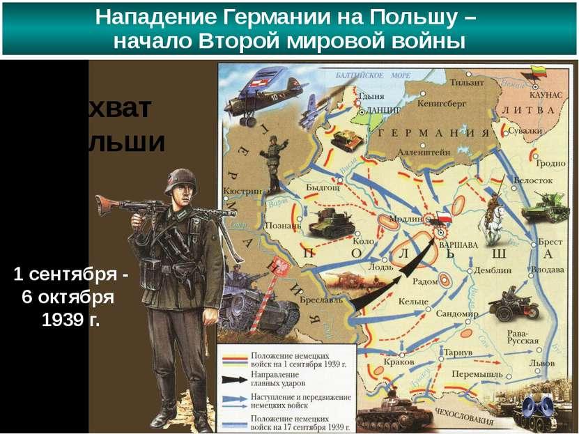 Захват Польши 1 сентября - 6 октября 1939 г. Нападение Германии на Польшу – н...