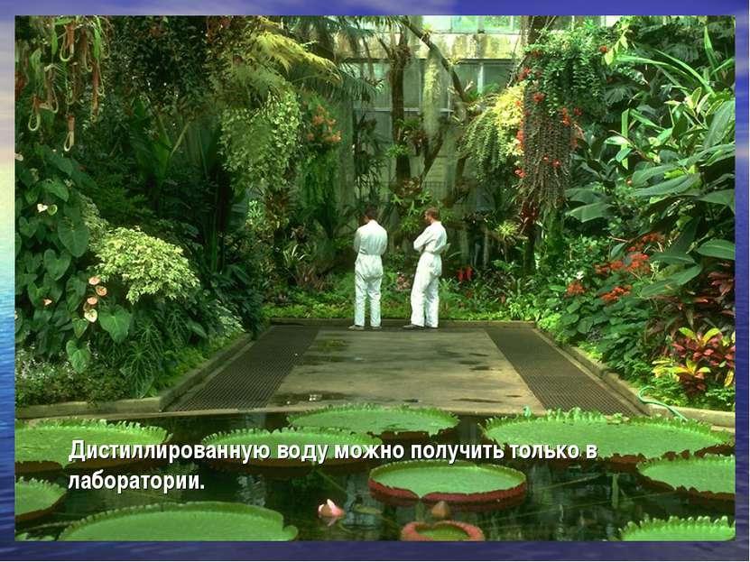 Дистиллированную воду можно получить только в лаборатории.