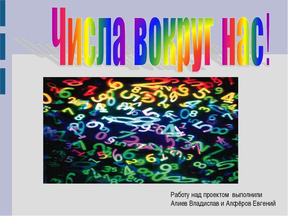Работу над проектом выполнили Алиев Владислав и Алфёров Евгений