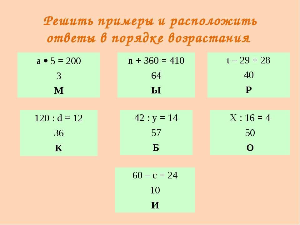 Микробы – возбудители болезней а 5 = 200 3 М 60 – с = 24 10 И 120 :d= 12 36 К...
