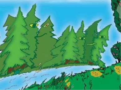 - Идём дальше по сказочному лесу.