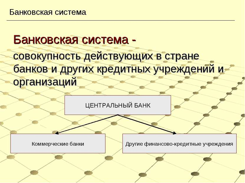 Банковская система - совокупность действующих в стране банков и других кредит...