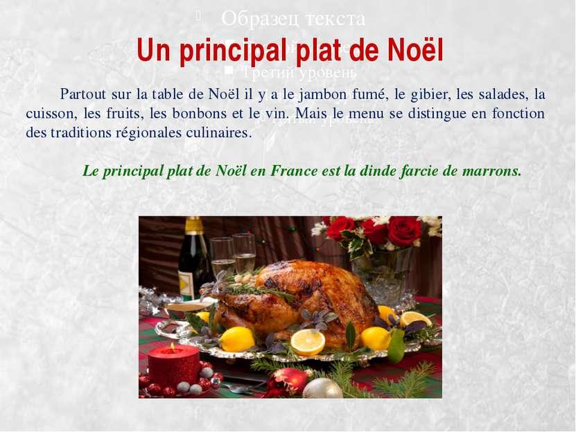Un principal plat de Noël Partout sur la table de Noël il y a le jambon fumé,...