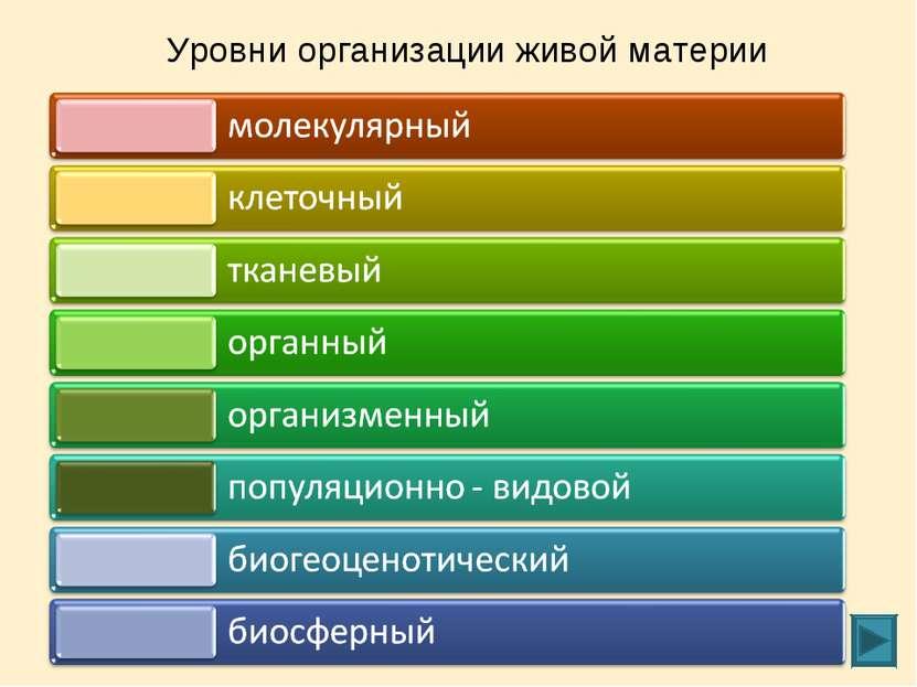 Уровни организации живой материи