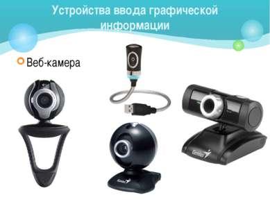 Веб-камера Устройства ввода графической информации