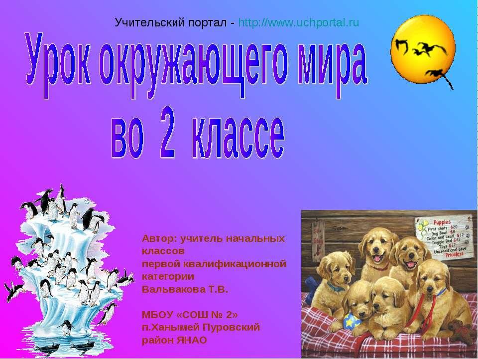 Автор: учитель начальных классов первой квалификационной категории Вальвакова...