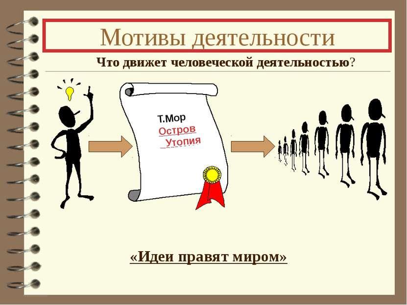 Мотивы деятельности Что движет человеческой деятельностью? «Идеи правят миром...