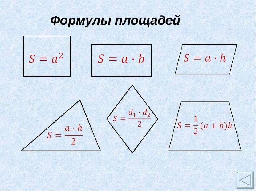 Формулы площадей
