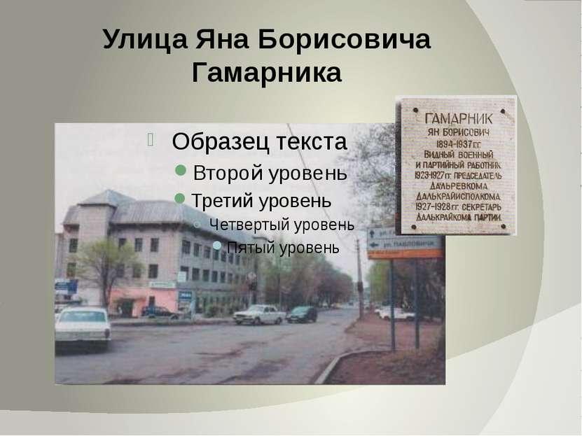 Улица Яна Борисовича Гамарника