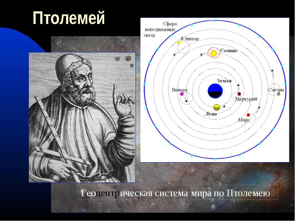 Птолемей Геоцентрическая система мира по Птолемею