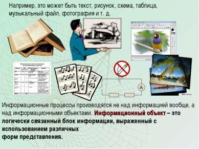 Например, это может быть текст, рисунок, схема, таблица, музыкальный файл, фо...