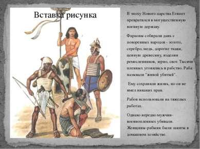 В эпоху Нового царства Египет превратился в могущественную военную державу. Ф...