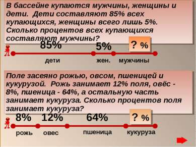 16% 10% Поле засеяно рожью, овсом, пшеницей и кукурузой. Рожь занимает 12% по...