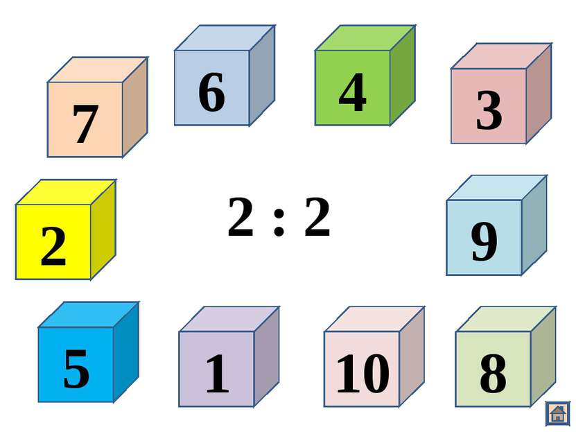 2 7 6 4 1 10 8 9 5 3 2 : 2