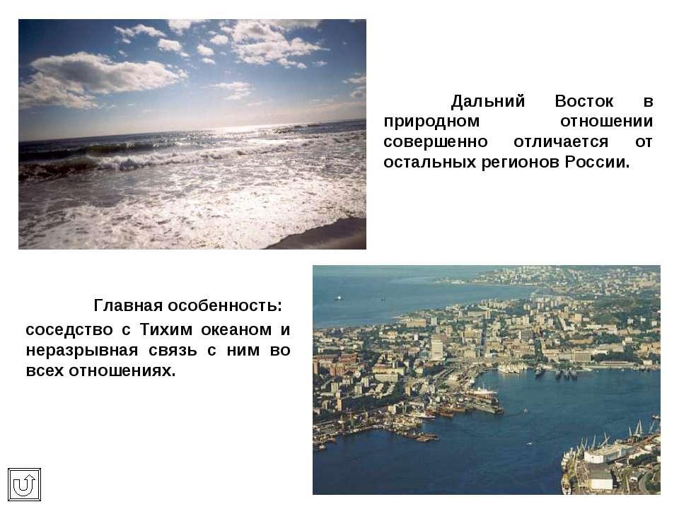 Дальний Восток в природном отношении совершенно отличается от остальных регио...