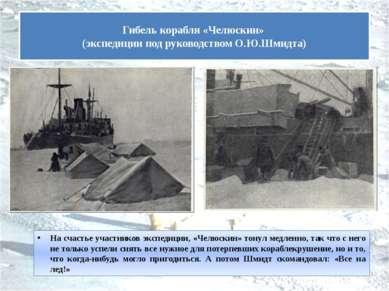 На счастье участников экспедиции, «Челюскин» тонул медленно, так что с него н...