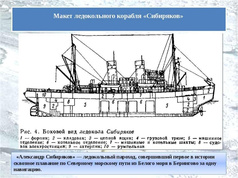 «Александр Сибиряков» — ледокольный пароход, совершивший первое в истории с...