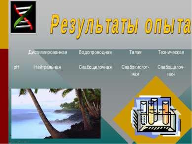 Дистиллированная Водопроводная Талая Техническая рН Нейтральная Слабощелочная...
